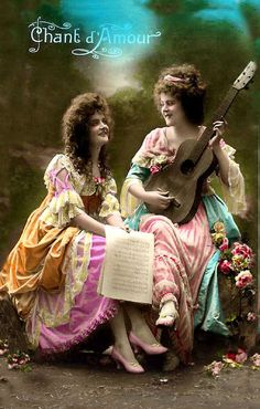 Music making ladies~Chant d'Amour