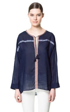 INDIAN-INSPIRED BLOUSE - Shirts - Woman - ZARA United States