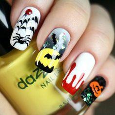Halloween nails🎃 Halloween Nails, Fingernail Designs