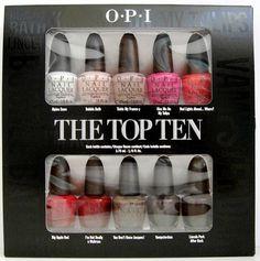 OPI The Top Ten Mini Nail Polish Set Best of Best Snow Bath Apple Jacques NIB   eBay