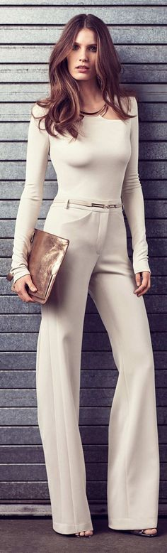 Halston Heritage Fall 2015 women fashion outfit clothing style apparel @RORESS closet ideas