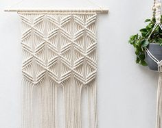 Macrame Wall Hanging Macrame Wall Decor Wedding от MaisyandAlice