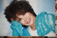 Painting Of Artist Carole Sager by Tien Ly <3 oil on canvas ~ awesome..I thought it was a photo!