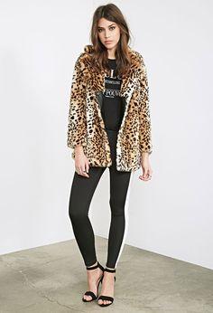 Leopard Faux Fur Coat - Jackets & Coats - 2000099949 - Forever 21 EU