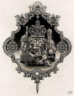 Joe Fenton est un artiste anglais basé à Londres connu internationalement pour ses oeuvres monochrome incroyablement créatives et riches en détails. Il utilise des stylos billes, des crayons à mine de graphite ainsi que de la peinture acrylique pour réaliser ses fresques de grande taille. La mort et la peur de la mort sont des […]