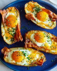 This Twice Baked Bacon Cheese Potatoes recipe is featured in the Breakfast Eggs feed along with many more. Breakfast Potatoes, Breakfast Bake, Healthy Breakfast Recipes, Brunch Recipes, Vegetarian Recipes, Dinner Recipes, Cooking Recipes, Healthy Recipes, Breakfast Ideas