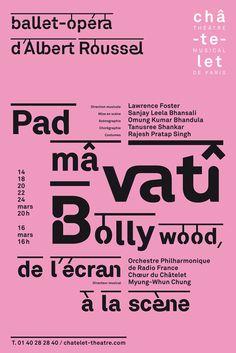 Philippe Apeloig | 2008 | Padmavati. Bollywood, de l'ecran a la scene