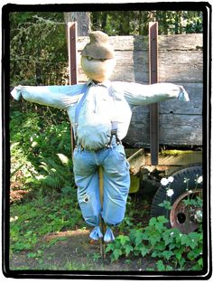 DIY Scarecrow – How to Make A Scarecrow with Items Around The House - See more at: http://www.thriftynorthwestmom.com/diy-