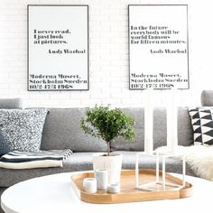 Black-gray-white living room Scandinavian style - my home this winter