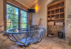 Moder Log Home Bathrooms Design Ideas, Pictures, Remodel, and Decor - page 46 For fun