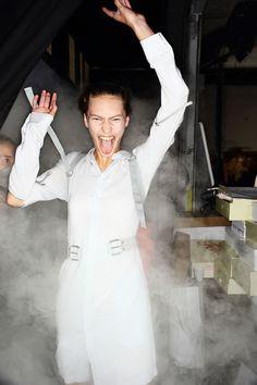 A.F. Vandevorst Fashion Show backstage, more photos her e> http://sonnyphotos.com/2014/09/a-f-vandevorst-ss15-fashion-show-paris-backstage