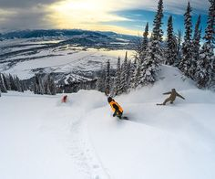 World Snowboarding Day- shredding with friends @jacksonhole shot with @gopro