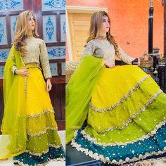 Beautiful Wedding Pictures of 18 Years Old Pakistani Couple Pakistani Mehndi Dress, Pakistani Party Wear Dresses, Beautiful Pakistani Dresses, Shadi Dresses, Pakistani Wedding Outfits, Designer Party Wear Dresses, Indian Gowns Dresses, Pakistani Dress Design, Mehndi Dress For Bride