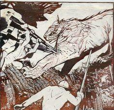 Il mostro nemico: Duilio Cambellotti - Opera 900 - Galleria arte Roma Russo