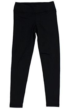 90 Degree by Reflex  Kids Girls Juniors  Fleece Lined Yoga Leggings  Black M 10 *** Want to know more, click on the image.