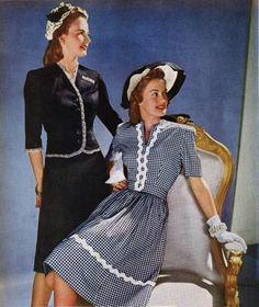 1940s Fashion. <3