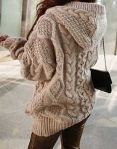 Fashionable thick sweater jacket