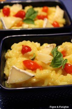Risoto de queijo brie e pimenta biquinho
