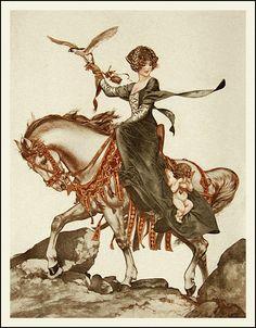 Chéri Hérouard : Gibier d'Amour 1920      ::      Chéri Hérouard (1881-1961) est un illustrateur français.
