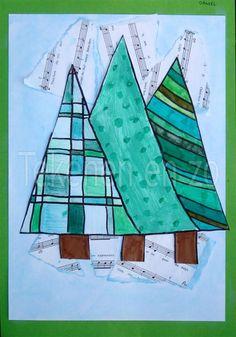 Tekenen en zo: Kerstbomenbos
