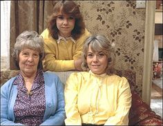 Michelle Fowler, Lou Beale & Pauline Beale Fowler ~ played by Susan Tully, Anna Wing & Wendy Richard Eastenders Cast, 1980s Christmas, Soap Stars, Tv Soap, British Comedy, Coronation Street, Iconic Characters, Vintage Tv