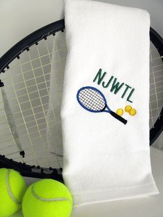 Personalized Tennis Towel  Tennis Monogram  by TennisGiftsToGo