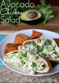 Tastes so good you won't believe it's healthy! Healthy Avocado Chicken Salad1