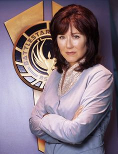Battlestar Galactica's President Laura Roslin, played by Mary McDonnell.