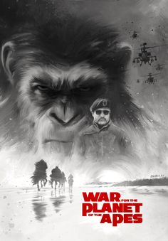 "My tribute art (Variant) to the ""War for the Planet of the Apes"" movie. By Ignacio RC #warfortheplanet #movieposter #illustration #planet #apes"