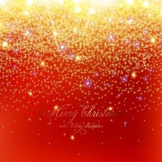free vector christmas typography on star pattern background