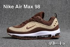 huge discount 652c7 96543 Mens Nike Air Max 98 QS KPU Beige Brown White 640744 068 Athletic Sneakers  Mens Running