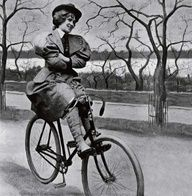 The safety bicycle gave women unprecedented mobility, contributing to their emancipation in Western nations. As bicycles became safer and cheaper, more women had access to the personal freedom they embodied, and so they came to symbolize the New Woman of the late 19th century, especially in Britain and the US. Bikes in the 1890s also led to a movement for so-called rational dress, which helped liberate women from corsets and  other restrictive garments, substituting the then-shocking…