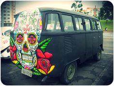 Skull Bus !! VW Camper van
