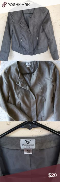 Worthington Petites Suede Jacket Size S Worthington Petites Suede Jacket Size S. Great jacket for fall and winter, perfect way to dress up a tank top for work! Worthington Jackets & Coats