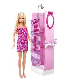 Loving this Barbie Doll Glam Shower on #zulily! #zulilyfinds