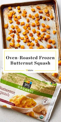 How To Roast Frozen Butternut Squash . we've got a shortcut, so you can be noshing on squash in just 25 minutes using frozen butternut squash . Oven Roasted Butternut Squash, Baked Squash, Frozen Vegetable Recipes, Veggie Recipes, Vegetarian Recipes, Cauliflower Recipes, Veggie Dishes, Side Dishes, Kitchens