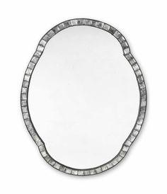 An Irish cut-glass mirror, 20th century