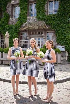black & white striped maids
