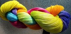 Results from Dyeing Wool yarn in 30 Min Tutorial by Melody Johnson... Love the Colors!