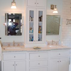 bathroom vanity with tower  | White Bathroom Vanity With Tower by Ben Raphael
