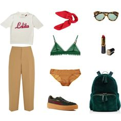 205 by cianono on Polyvore featuring Marni, Eberjey, LoveStories, Puma, Nancy Gonzalez and Karen Walker