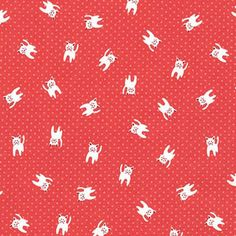 Hey, I found this really awesome Etsy listing at https://www.etsy.com/listing/256631556/red-kittens-on-dots-1-yard-by-robert