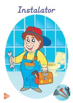 Ilustrații cu meserii și ocupații Experiment, Teaching Weather, Kindergarten, Preschool, Language, Family Guy, Cards, Fictional Characters, Decoupage