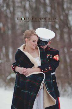 Winter wedding bride groom snow portraits  Www.jessicaleglerphotography.com
