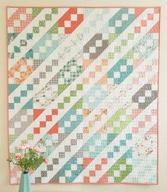 Jane's Ladder Quilt « Moda Bake Shop (Layer cake or two charm pack quilts. Quilting Tutorials, Quilting Projects, Quilting Designs, Quilting Ideas, Modern Quilting, Sewing Projects, Quilt Modern, Easy Quilts, Small Quilts