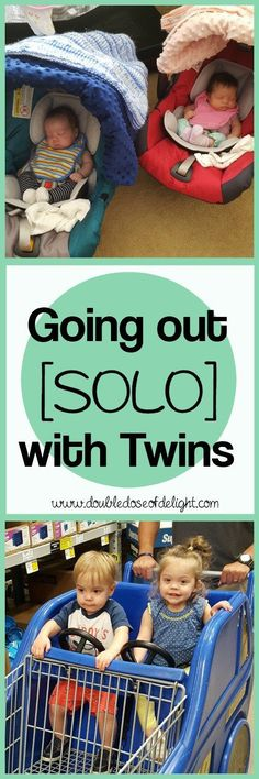 Double Dose of Delight: Going out [SOLO] with Twins. #twins #twinlife #momhacks #twinmom #twinlife #momlife #parenting #twintips