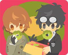 I don't like Goro, but I do love the Protag and Matcha (Green Tea) Donuts :3