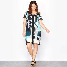Seath φόρεμα με σκίσιμο στα πλάγια Short Sleeve Dresses, Dresses With Sleeves, Dresses For Work, Fashion, Moda, Sleeve Dresses, Fashion Styles, Gowns With Sleeves, Fashion Illustrations