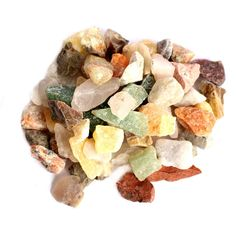 5 lbs Rough Mix Gem Stones - Natural Formation - Brazilian Beauties 1-2 cm (RK160B1) 5 pound bag