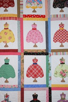 quilt dresses- would love to use my old baby clothes for this